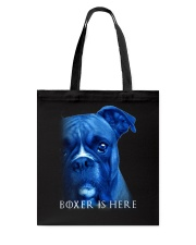 Boxer Is Here Tote Bag thumbnail