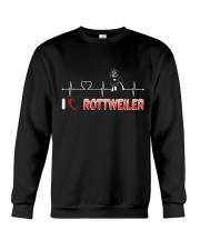 Rottweiler Heart Crewneck Sweatshirt thumbnail