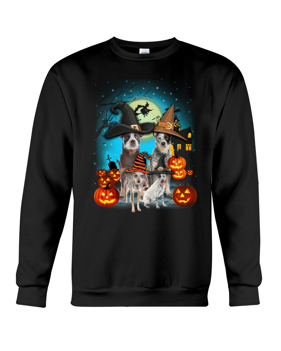 Gaea - Australian Cattle Dog Halloween - 1608 - 24 Crewneck Sweatshirt