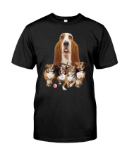 GAEA - Basset Hound Running 1603 Classic T-Shirt front