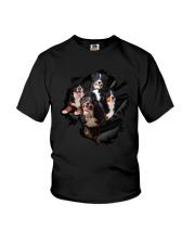 Bernese Mountain Dog Scratch - 0109 - 76 Youth T-Shirt thumbnail