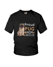 Pug Mom Rescue 2505 Youth T-Shirt thumbnail