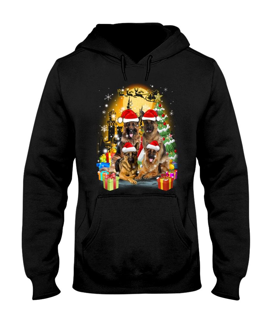 ZEUS - German Shepherd Christmas - 2209 - 75 Hooded Sweatshirt