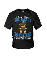 Rottweiler Energy Youth T-Shirt thumbnail