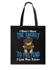 Rottweiler Energy Tote Bag thumbnail