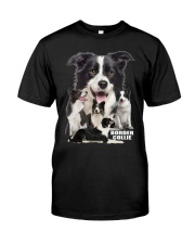 Border Collie Awesome Classic T-Shirt front