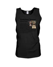 Yorkshire Terrier Property Laws 0806 Unisex Tank thumbnail