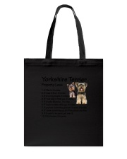 Yorkshire Terrier Property Laws 0806 Tote Bag thumbnail