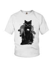 Black Cat Waterpaint  Youth T-Shirt thumbnail