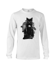 Black Cat Waterpaint  Long Sleeve Tee thumbnail