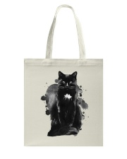 Black Cat Waterpaint  Tote Bag thumbnail