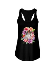 ZEUS - French Bulldog Flower - 1209 - 08 Ladies Flowy Tank tile