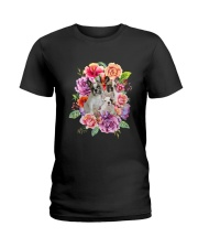 ZEUS - French Bulldog Flower - 1209 - 08 Ladies T-Shirt tile