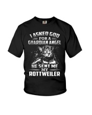 Rottweiler Angel Youth T-Shirt thumbnail