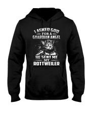 Rottweiler Angel Hooded Sweatshirt thumbnail