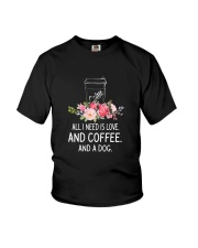 Coffee And Dog 2304 Youth T-Shirt thumbnail