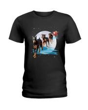 GAEA - Doberman Pinscher Santa - 1011 - 105 Ladies T-Shirt thumbnail