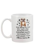 Bulldog My Family 2905 Mug back