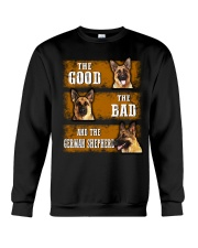 German Shepherd Good Bad Crewneck Sweatshirt thumbnail