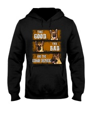 German Shepherd Good Bad Hooded Sweatshirt thumbnail