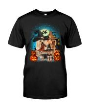 Gaea- Yorkshire Terrier Halloween- 1508- 15 Classic T-Shirt front