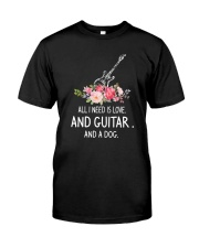 Guitar And Dog 2304 Classic T-Shirt thumbnail