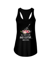 Guitar And Dog 2304 Ladies Flowy Tank front