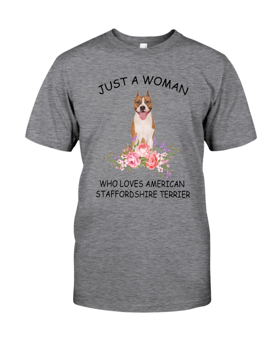 American Staffordshire Terrier Love Woman 2104 Classic T-Shirt