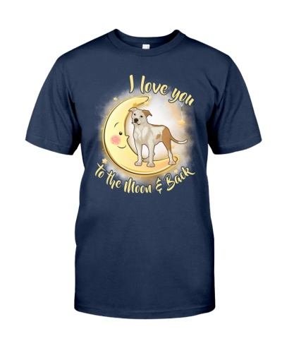 American Staffordshire Terrier Love Moon