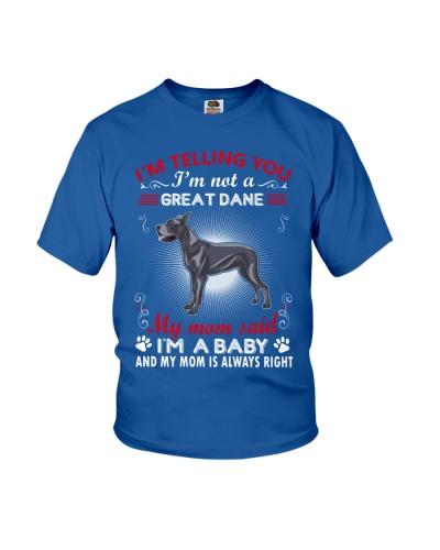Great Dane Telling Mom