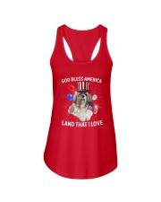 Shih Tzu I Love USA 0606 Ladies Flowy Tank front
