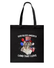 Shih Tzu I Love USA 0606 Tote Bag thumbnail