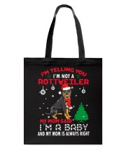 Rottweiler Xmas Tote Bag tile