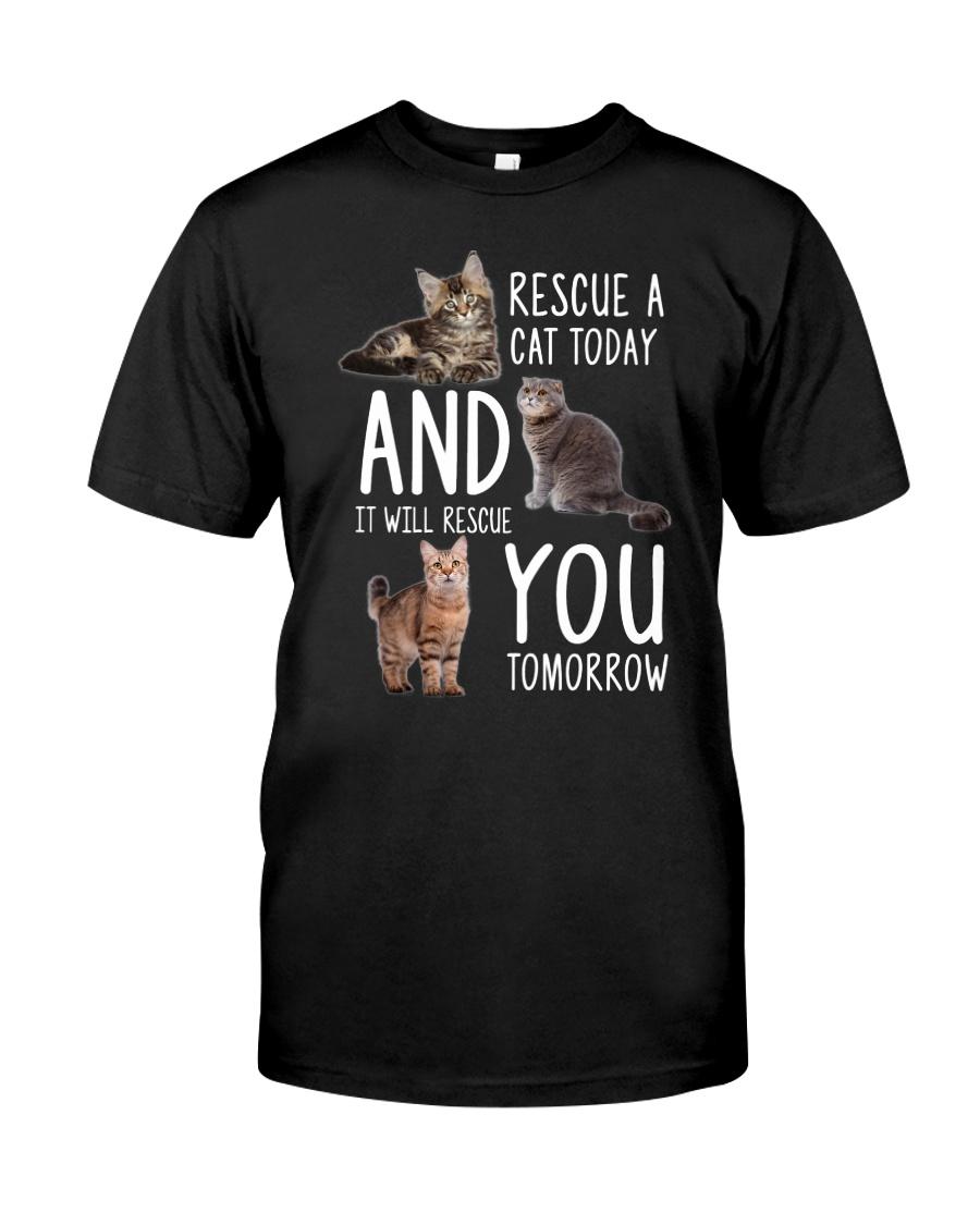 Rescue A Cat 2505 Classic T-Shirt