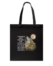 Wolf Courage 3105 Tote Bag thumbnail