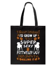 Rottweiler Super Lady Tote Bag thumbnail