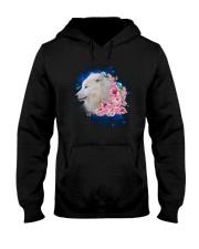 Wolf Flower 1005 Hooded Sweatshirt thumbnail