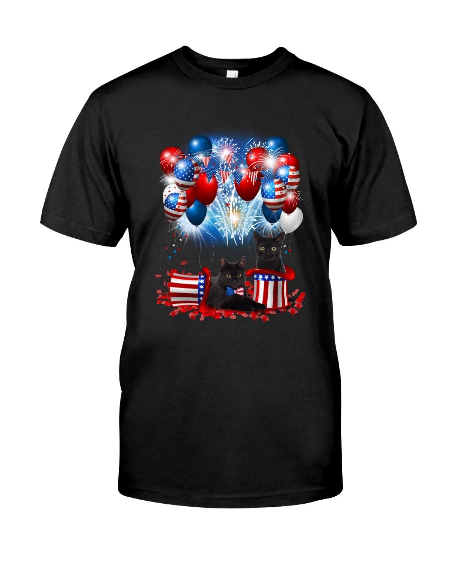 Black Cat Holiday D2105 Classic T-Shirt