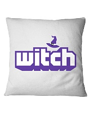 Witch logo Square Pillowcase tile