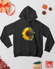 Some Mom Cuss Too Much Hooded Sweatshirt lifestyle-holiday-hoodie-front-2