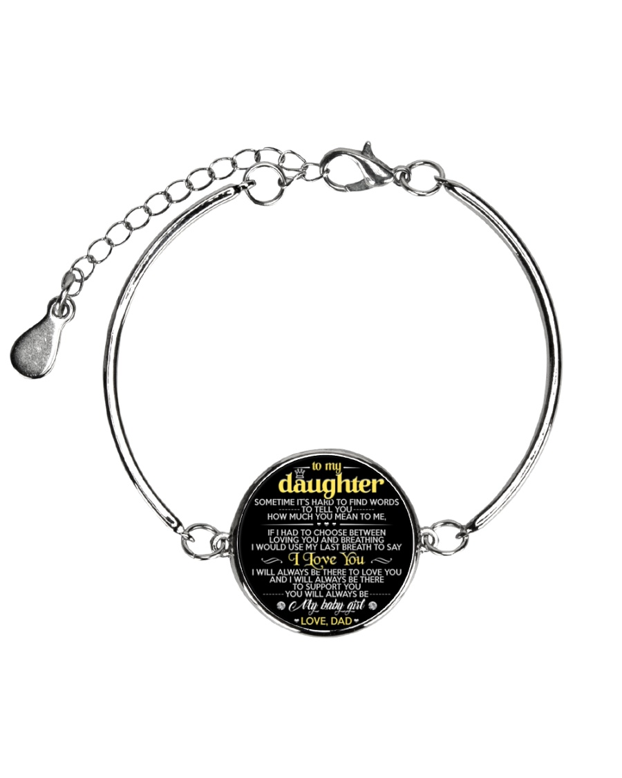 To My Daughter Metallic Circle Bracelet
