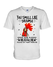 You smell like drama V-Neck T-Shirt thumbnail