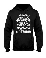 This girl has a cuddly hot and awesome boyfriend Hooded Sweatshirt thumbnail