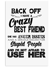 Crazy Best Friend with Anger Issues Hooded Sweat 11x17 Poster thumbnail