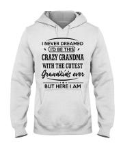 I'D BE THIS CRAZY GRANDMA Hooded Sweatshirt front