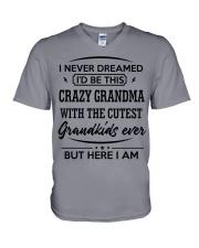 I'D BE THIS CRAZY GRANDMA V-Neck T-Shirt thumbnail