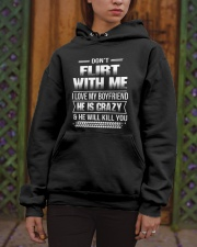 Girlfriend T-Shirt - Don't Flirt with me Hoodie Hooded Sweatshirt apparel-hooded-sweatshirt-lifestyle-front-03