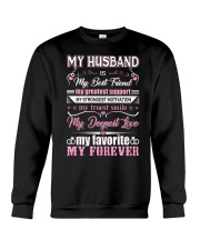 Wife T-Shirt - My Husband is my best friend Crewneck Sweatshirt thumbnail