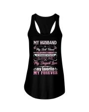 Wife T-Shirt - My Husband is my best friend Ladies Flowy Tank thumbnail
