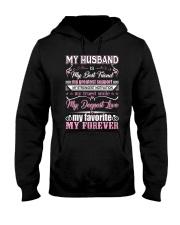 Wife T-Shirt - My Husband is my best friend Hooded Sweatshirt thumbnail
